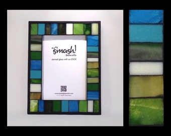 Archipelago - 5x7 Stained Glass Mosaic Picture Frame