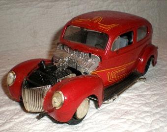 Vintage Hot Rod Model Car