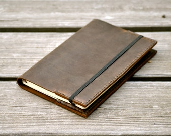 Coffee Brown Leather Classic Moleskine Notebook Cover
