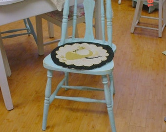Hand hooked chair pads Vintage Rustic Farmhouse Country Chic