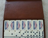 Professional Marblelike Extra Thick dominoe Marked Retired And Lovin' It complete Set Men Dominoes