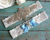 Elegant Rhinestone Beach Wedding Garter / Starfish/  Beach Wedding Garter Set / Toss Garter/ Lace Garter/ Style #159