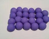 "22 Bright Periwinkle Purple Shank Buttons, Matte finish, size 1/2"""
