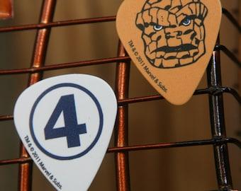 Thing 'Fantastic Four' Guitar Pick Post Earrings