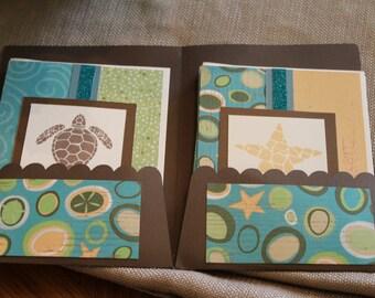Starfish & Sea Turtle Card Set