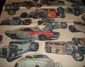 Rat Rod's  - Taupe Back Ground Nicole's Prints Alexander Henry Fabric 1 Yard