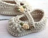 Baby Booties, Crochet Baby Booties, Baby Girl Booties, Baby Girl