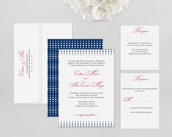 Wedding Invitation Modern Sample - Crescendo - Wedding Invitation, Modern Wedding Invitation, Modern Wedding Invitations