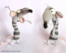 090 Funny Rat Serafima with wire frame - Amigurumi Crochet Pattern PDF file by Pertseva Etsy