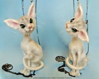 093 Cat Mystery with wire frame - Amigurumi Crochet Pattern PDF file by Pertseva Etsy