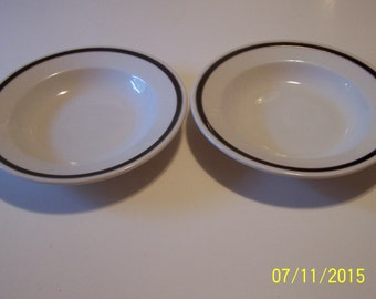 Lamberton Ivory Scammell Black and Gold rim bowls ( set of 2 )