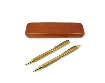 Zebra Wood Pen Set with Gold Hardware. Hand Made Wood Pen. Personalized Gift. Custom Engraving Available! Birthday & Christmas Gift!
