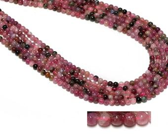 """GU-19373-1 - Pink Tourmaline Beads - 4mm - Gemstone Beads - 16"""" Full Strand"""
