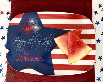 SALE Personalized 4th of July Platter