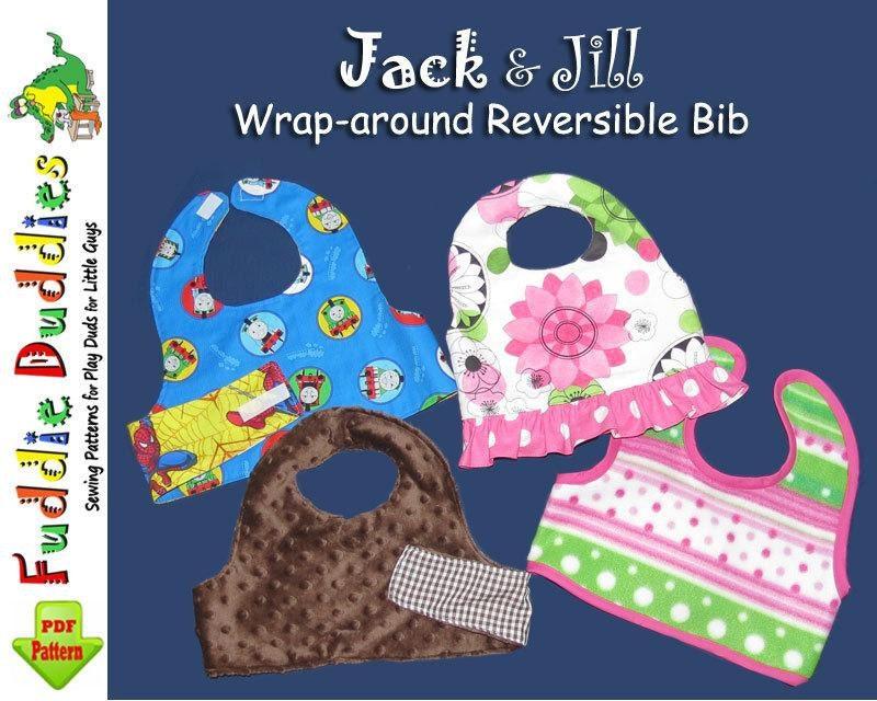 Reversible Wrap Around Bib Pattern Baby Bib By Fuddieduddies