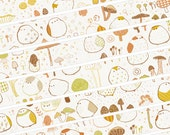 Taiwan Designers masking tape-Limited Edition deep night color Natural Mushroom cutie ball Chicken 2 ROLL set