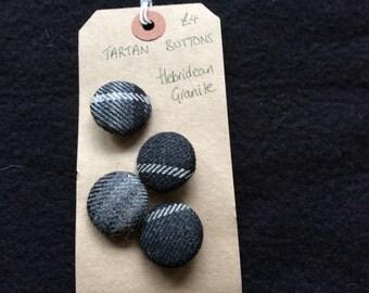 Tartan Buttons - Irish National, Hebridean Granite, MacQueen, Maclean,