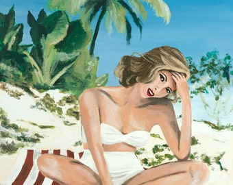 The White Bikini Giclee Print