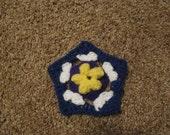 Crochet Flower Pentagon Pattern PDF file