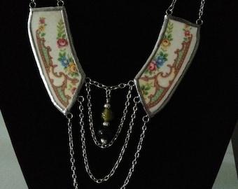 Broken China Collar Necklace