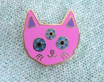 PINK CAT PIN