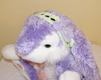 Scallope-edged Crocheted Adjustable Hairband