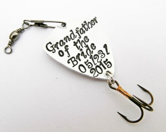 Grandpa Fishing Lure, Grandfather of the Bride, Grandpa Gift, Personalized Papa Gift, Personalized Fishing Lure, Outdoors sport custom spoon