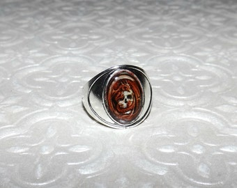 Dragon Skull Marble Ring