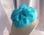 Teal/Turquoise  Blue Bow Fascinator/Mini Hat/Cocktail Hat