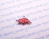 6 Arkansas Razorbacks Charms Silver Plated University Logo Pendants