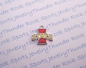 6 Iowa State Cyclones Charms Silver Plated University Logo Pendants