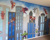 Superhero Mural, Canvas M...