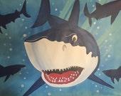 Shark Party Table Backdro...