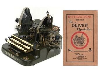 The Oliver No.5 Typewriter User's Manual