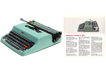 Olivetti Lettera 32 Portable Typewriter User's Manual