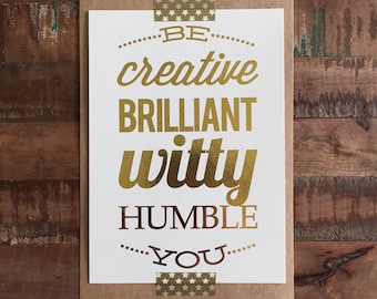 Be You Frameable Print