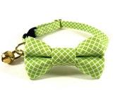 Cat Bow Tie Collar, CRISSCROSS, Cat Collar Bow Tie, Handmade
