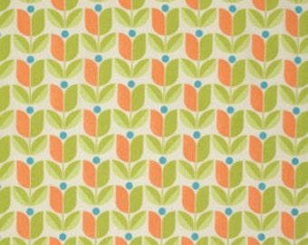 Joel Dewberry Fabric - 1 Fat Quarter FLORA, Tulip in Carrot