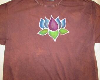 Batik Lotus Shirt in Adult Large Size