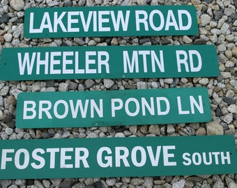 Vintage 1 Of a Kind VERMONT Metal STREET Signs Perfect for Workshop, OutDoor Smokehouse, Mancave, Office etc.