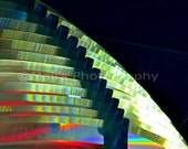 Lighthouse Fresnel Lens Vivid Abstract Red Glass Rainbow Blue Green, Fine Art Photography matted & signed 8x10 Original Photograph,