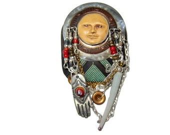 Bronze Talisman Brooch Tabra Designer