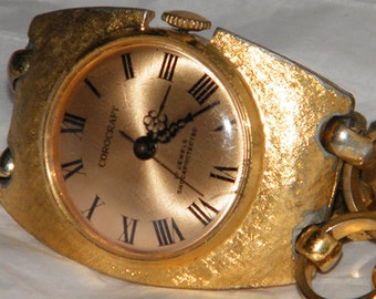 Vintage Corocraft Swiss Made 17 Jewels Gold Plate Mechanical Wind Watch