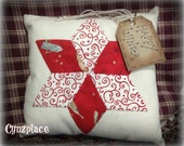 Whimsical Red Star  Pillow Tuck