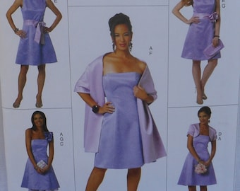 Misses Special Occassion Dress and Accessories, Butterick 5607, Uncut, Size 14 - 22