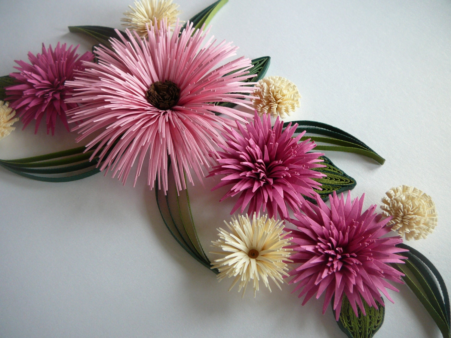 How To Make Paper Flowers To Hang On Wallper Quilled Flowers