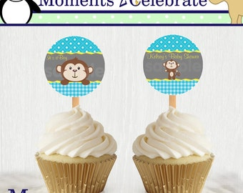 Jungle Monkey Cupcake Topper - Printable No. 002