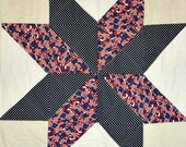 Patriotic Star Quilt Pattern -  Wall Hanging Size Pattern