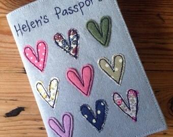 Applique Hearts Passport Cover