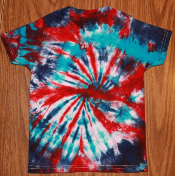 Red White And Blue Tie Dye T Shirt 2t 3t 4th Of July Tie Dye
